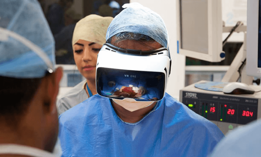 Virtual reality allows surgeons to stream operations live.